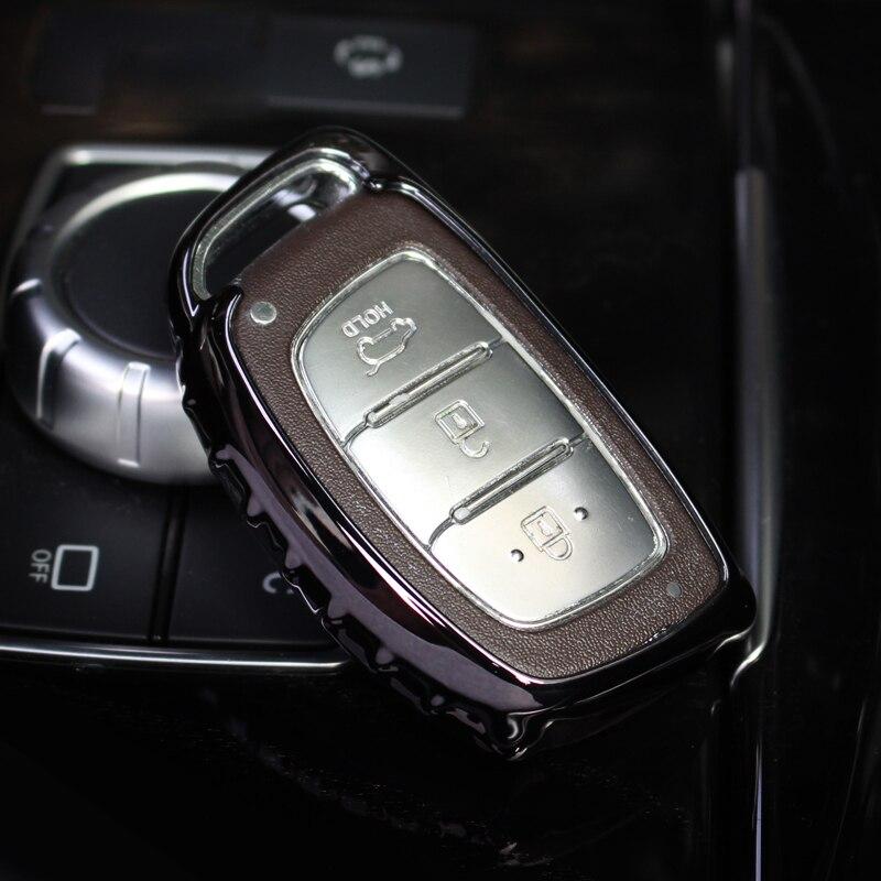 Car-styling Soft TPU Car Key Cover Case for Intelligent key of  Hyundai i10 i20 i30 IX25 IX35 IX45 Elantra Accent Avante Porter