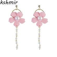 Earrings and pure fresh Joker fashion girl temperament Simple flower earrings delicate students