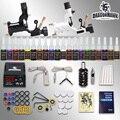 Iniciante tatuagem kit 2 máquinas de 20 conjuntos de tinta de energia agulhas abastecimento D175GD-6