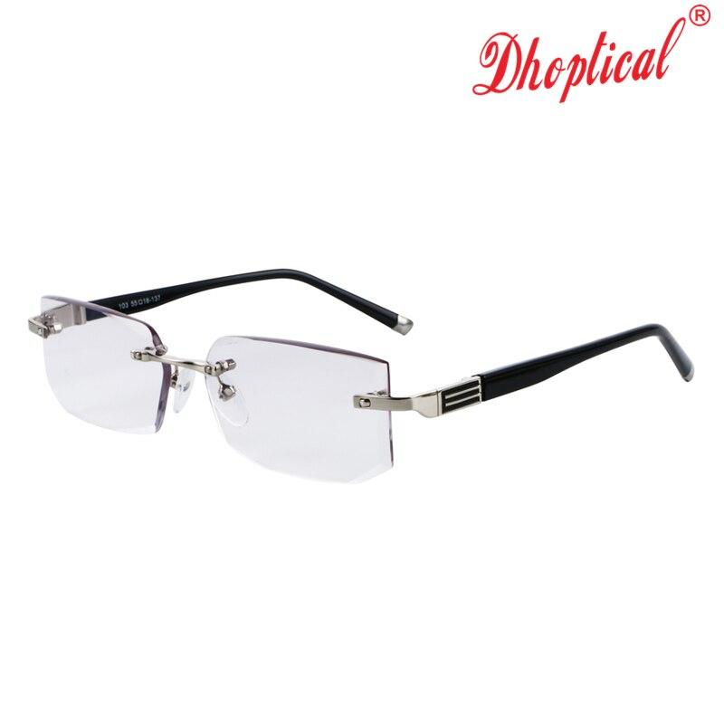 eabe6a7f0cc Buy Rimless Reading Glasses Resin Lens Men Black Comfortable Ultra ...