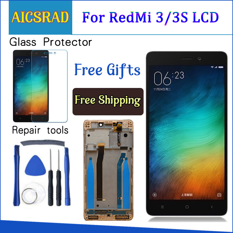 Q&Y QYJOY LCD Display+Digitizer Touch Screen Assembly For Xiaomi Redmi 3 Hongmi3 Redmi3 Cellphone 5.0