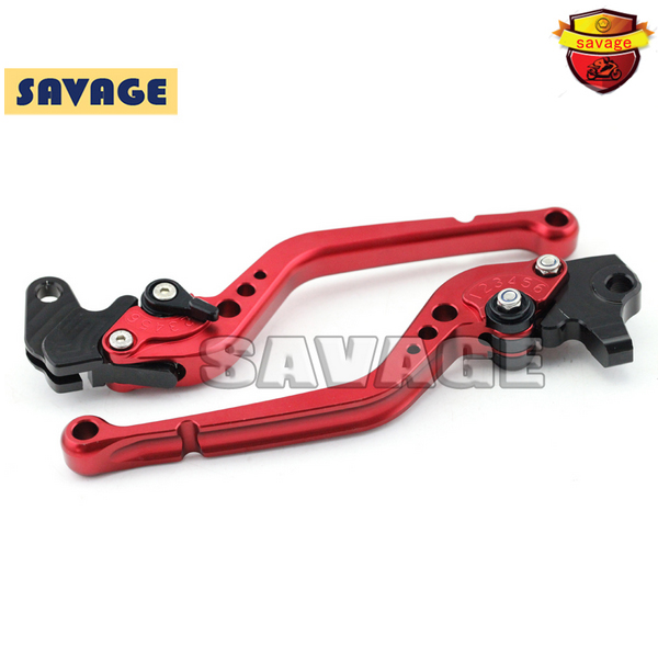 ФОТО For KAWASAKI ZX6R NINJA650R ZZR600 ZX-9R Z750S Versys 650 Motorcycle CNC Billet Aluminum Long Brake Clutch Levers Red