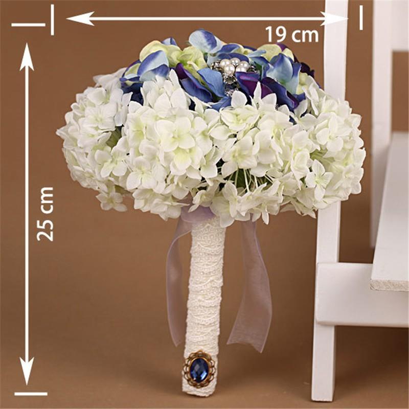 New Artificial Wedding Bouquets Crystal Bridal Bouquet Wedding Bouquet Wedding Flowers Bridal Bouquets Hydrangea Flower Bouquet (8)