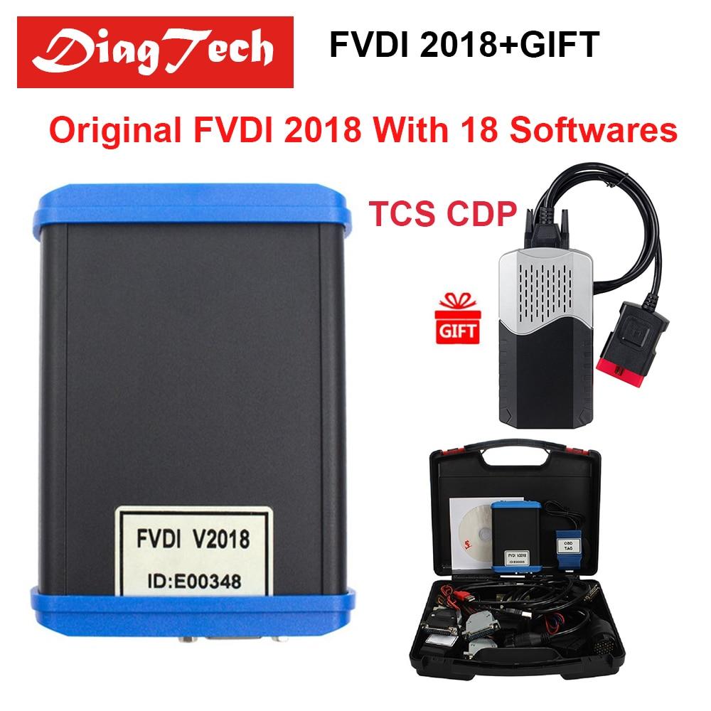 2018 100% D'origine FVDI 2018 Outils De Diagnostic Version Complète Pas Limitée FVDI Commandant Pas Limitée Couvre FVDI 2014 2015 DHL livraison