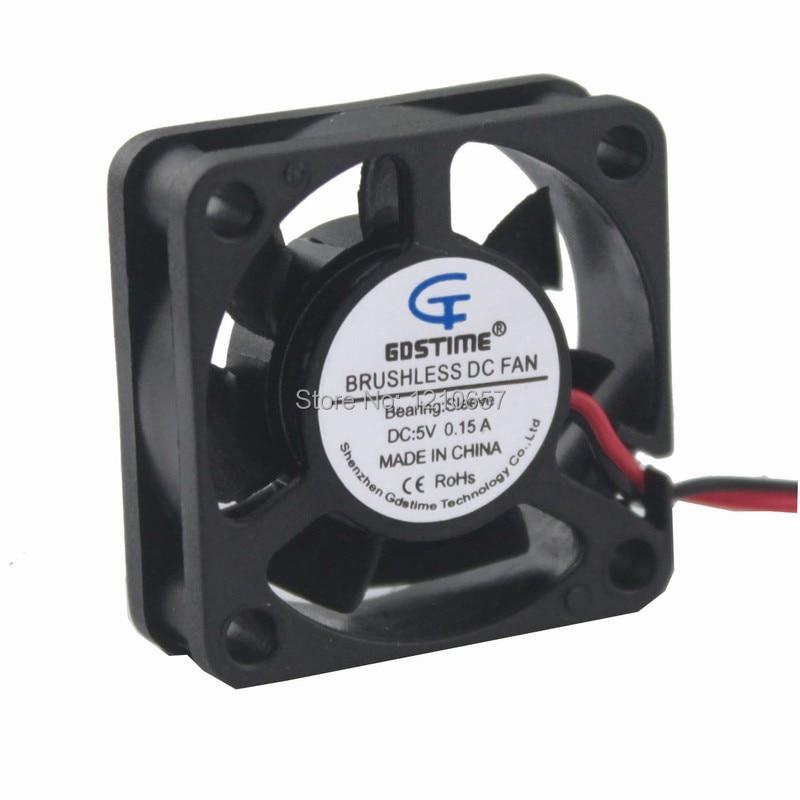 2Piece LOT Gdstime Mini Cooler 2Pin 2Wire 30MM 30 x 30 x 10MM 5V DC Cooling Heatsink Fan 2pieces lot gdstime 2pin 5v dc 3007 30mm 3cm 30x30 x7mm 5v cooler cooling fan