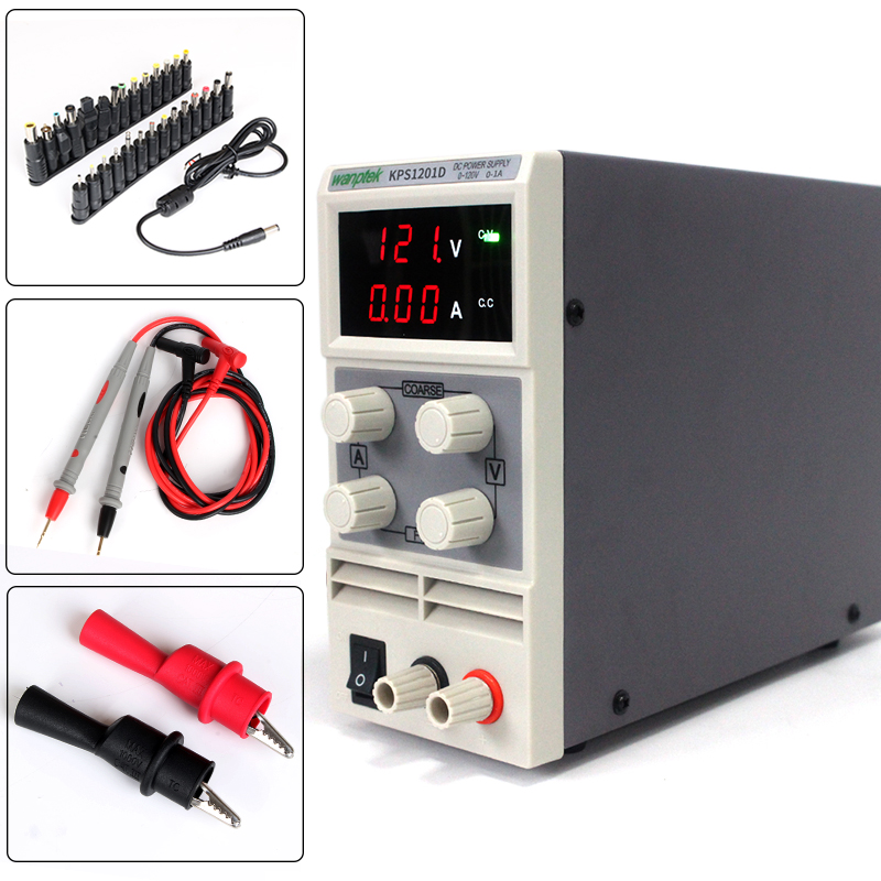 with Power head adapter,Adjustable High precision digital LED display switch DC Power Supply 120V 1A 110V/220V 0.1V/0.01A switch power kps3010d adjustable high precision double led display switch dc power supply protection function 30v10a 110v 230v