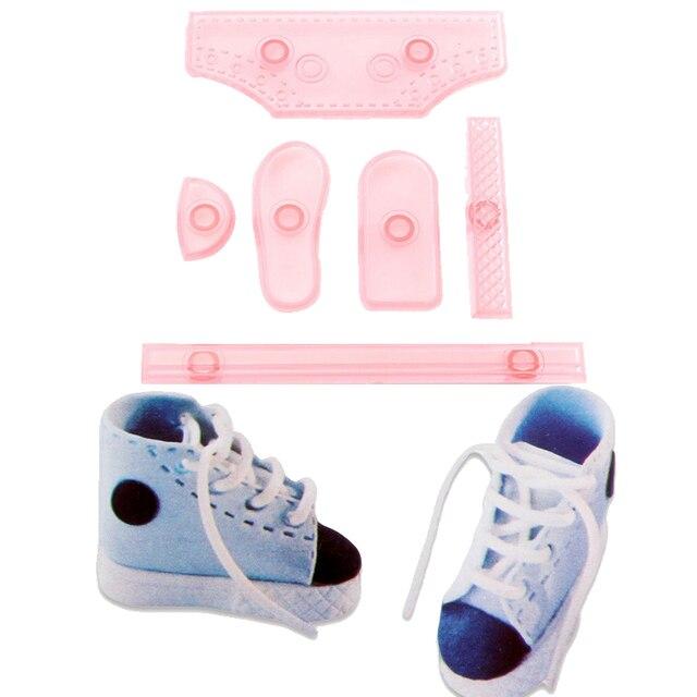 6PCS SET Baby Shoe Sneaker Shape DIY Cake Mold high-top Shoes Confectionery  Cut d976fb1d7