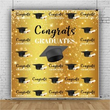 Laeacco Graduation Back To School Party Poster Ceremony Photography backdrops Photographic Backgrounds Photocall Photo Studio