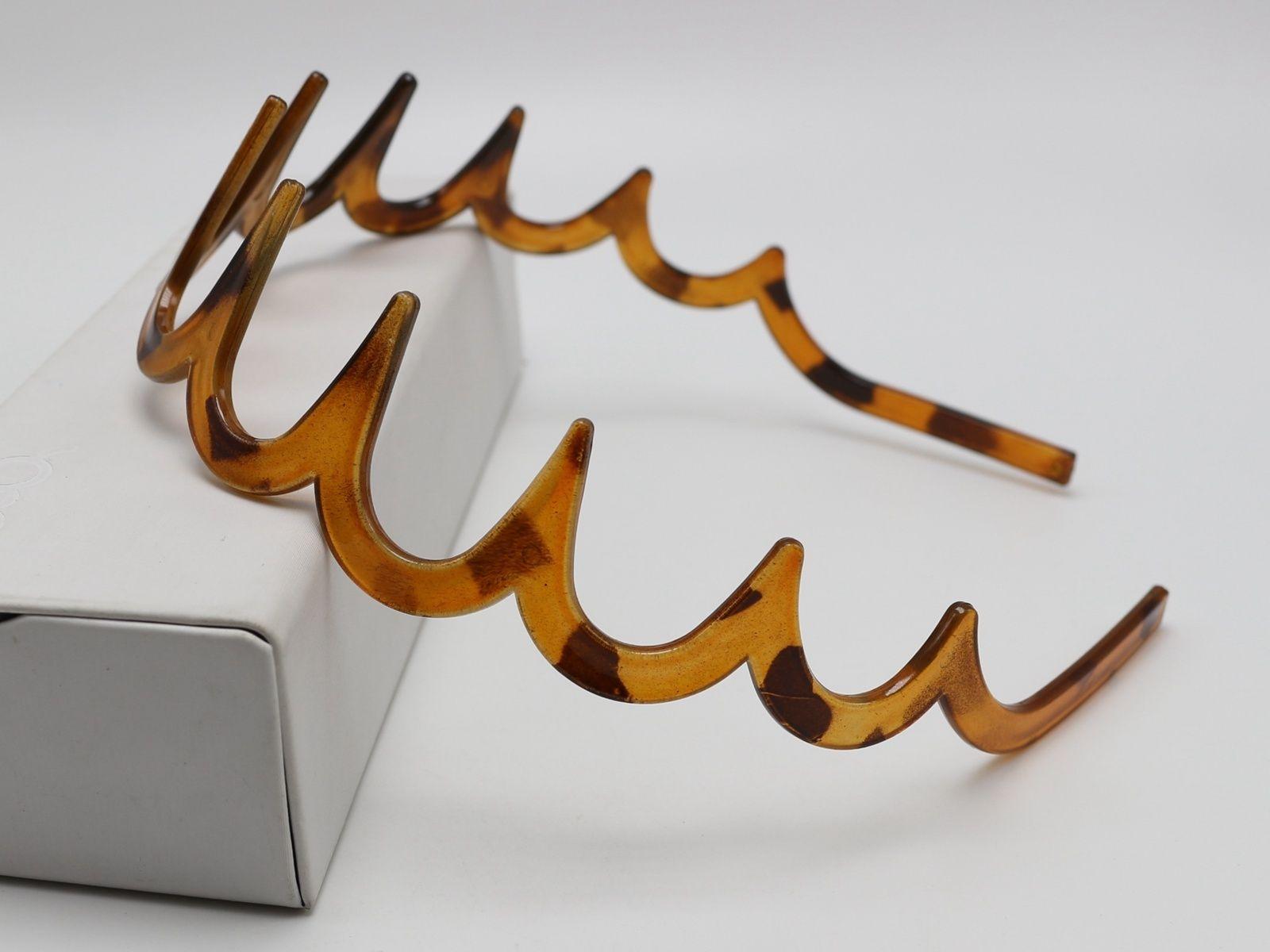 8 Coffee Plastic Wave Hair Band Comb Headband 32mm with Deep Teeth Hair Accessor