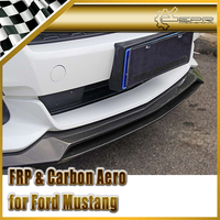 For Ford 2015 Mustang MX Style Carbon Fiber Front Lip Glossy Fibre Bumper Splitter Car Accessories Under Spoiler Trim Body Kit