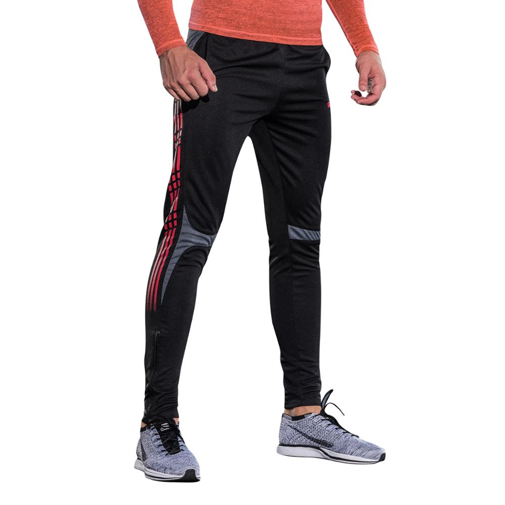2018 Youth Mens Pants Running Soccer Bodybuilding Athletic Compression Breathable futebol Gym Long Pants