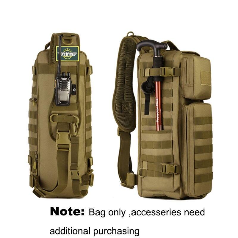 Hommes poitrine fronde sac à dos hommes sacs une seule épaule homme grand voyage militaire sacs à dos Molle sacs à dos en plein air XA495WA - 2