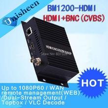MPEG-4 AVC/H.264 HDMI Encoder Replace HD Video Capture Card CVBS BNC encoder