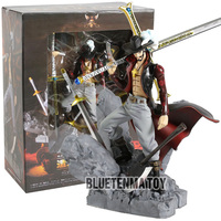 Scultures Big One Piece Figure Toy Dracule Mihawk Model Doll With Sword Anime Brinquedos for Children