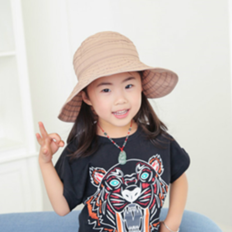 bedc58c5e0652 Folding Children Girls Sun Hat Baby Outdoor Sunshade Caps Kids Beach Hat UV  Big Brim Hat Candy Color Caps Nice Girl Big Brim Hat-in Hats   Caps from  Mother ...