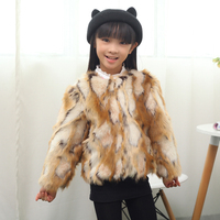 Fashion children's clothing child leather hare wool cape overcoat outerwear autumn and winter faux thermal jacket