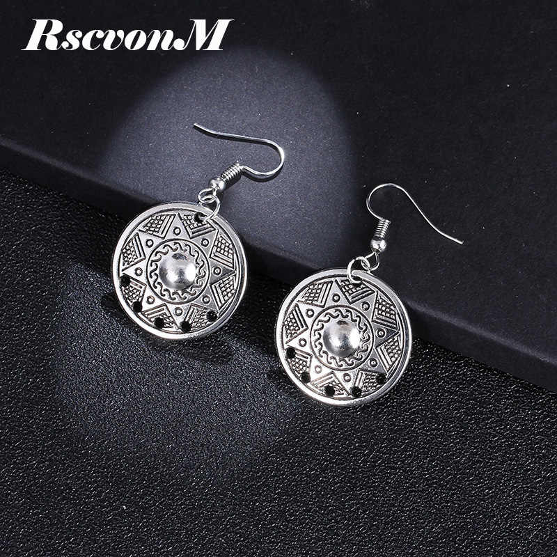 RscvonM New Spherical Silver Color Earrings for Women Hollow Dangle Earring Fashion Classic Jewelry Love Boucle D'oreille Femme
