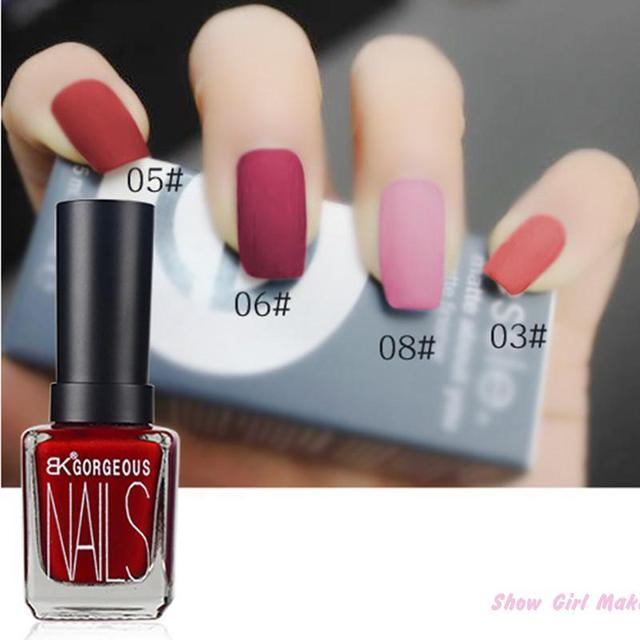 Matte Black Gel Nail Polish: 1pcs Bk Character Matte Gel Nail Polish Lasting Shine 15ml
