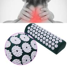 цена на Dual Use Massager Pillow Acupressure Relieve Stress Pain Spike Back Head Massage Pillow Acupuncture Massage Yoga Mat Health Care