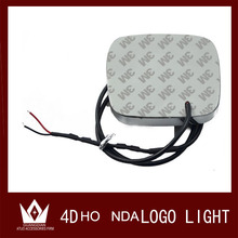 GuangDian Car 4d logo light emblem rear Chrome badge 4D cool refit lights led logo light decorative lamps 9.8cmX8cm For Honda
