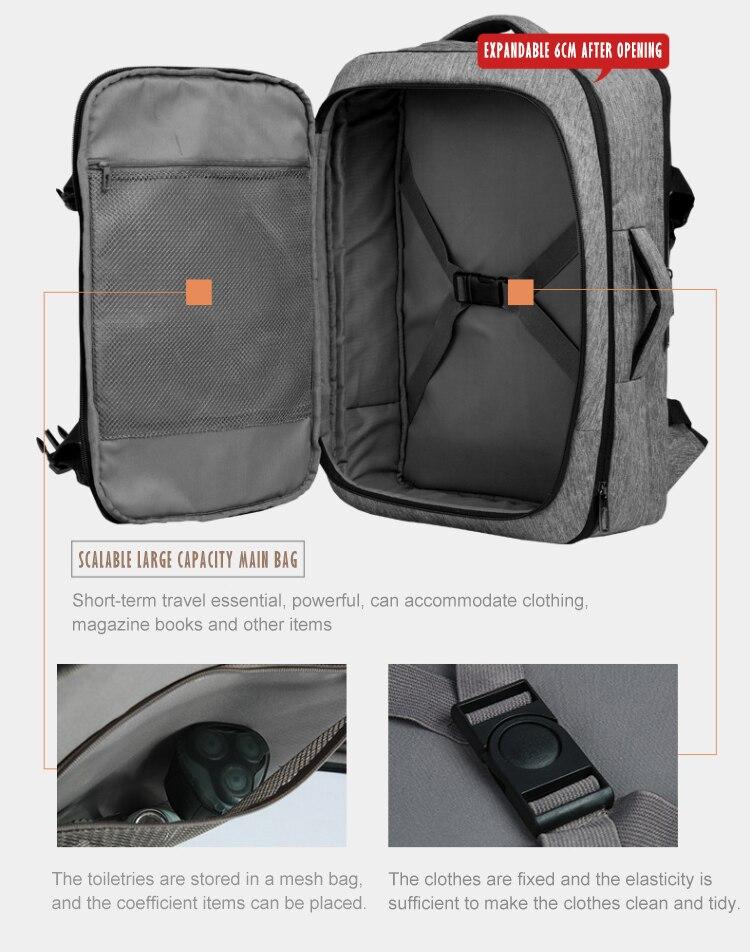 Mark Ryden мужской рюкзак многофункциональный usb зарядка 17 дюймов Сумка для ноутбука большая емкость водонепроницаемые дорожные сумки для мужч... - 4