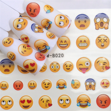 Cute Emoticons Icon Water Decal Nail Art Manicure Decoracion Cartoon Stickers On Nails Inscriptions Sliders For