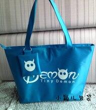 Große kit tasche kleine kleine dämon einkaufstasche nylontasche handtasche weibliche schulter schüler schultasche damen handtasche mode