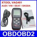 Profissional VAG ferramenta XTOOL VAG401 ler Erase Airbag de código OBD2 OBDII Scanner de diagnóstico para VW AUDI SKODA assento