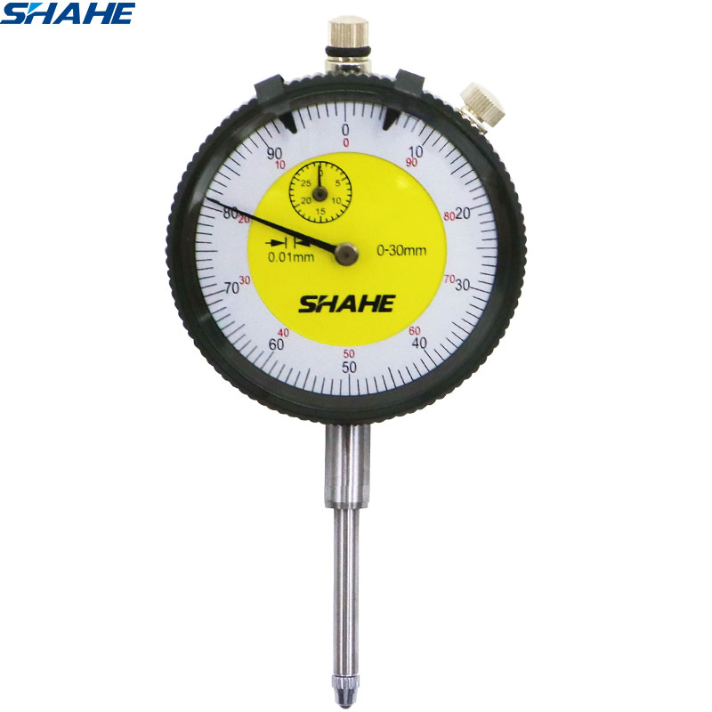 shahe 0-30 mm analog dial gauge Shock-Proof indicator precision tools dial indicators with strong box