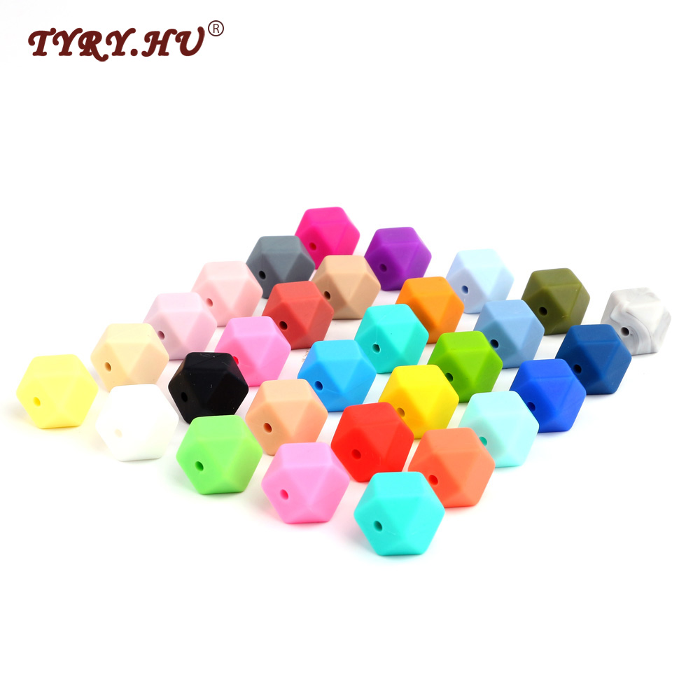 Beads & Jewelry Making Tyry.hu Silicone Beads 10pc Food Grade Silicone Icosahedron 14mm Nursing Silicone Teething Bead In Baby Teethers Necklace Diy Beautiful And Charming Beads