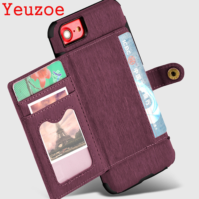 Yeuzoe pu Leather Flip Stand Phone Case For iPhone 7 8 Plus Case 7plus 8plus Card Holder Buckle Cover For iPhone X iPhone 6s