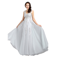 Robe De Soiree Lace Beading Sexy Backless Plus Size Cheap Evening Dresses Long Bride Banquet Floor length Party Prom Dress
