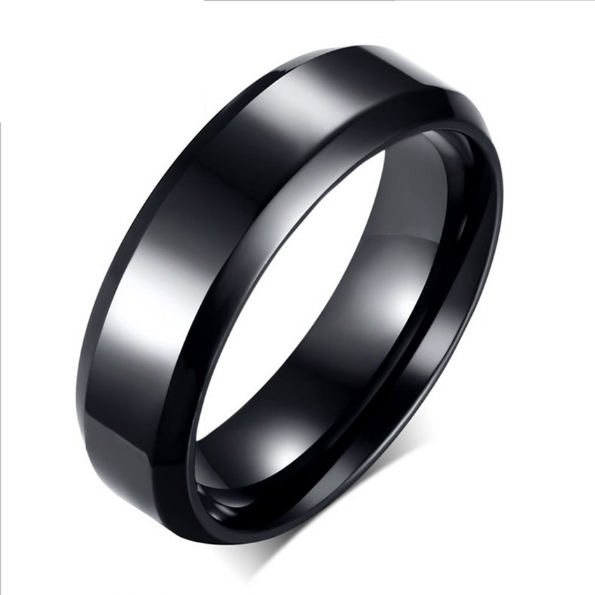 gold silver black color stainless steel mens fashion man ring cool mans high polished mans wedding ring classic couple ring - Cool Mens Wedding Rings