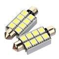 Alta Qualidade 42mm 8 LED SMD 5050 Pure White Dome Festoon CANBUS Erro Free Car Interior Luz de Leitura Auto Luz de Estacionamento Lâmpada 12 V