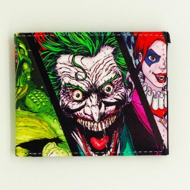 e19e9cc7d43bf Śmieszne joker portfel mężczyzn portfele samobójstwo squad pu skórzana  torebka na monety Harry Potter carteiras