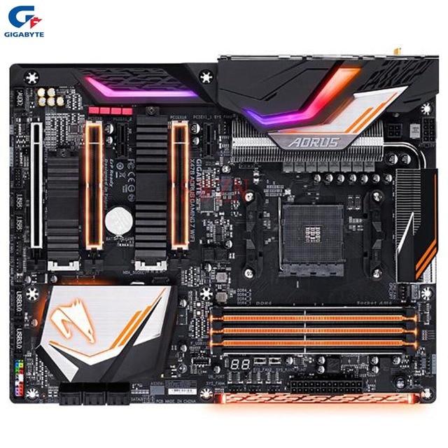 US $550 23 |original New Desktop motherboard For Gigabyte X470 AORUS GAMING  7 WIFI X470 Socket AM4 support 4*DDR4 64G 6*SATA3 2*M 2 ATX on