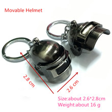 PUBG Cosplay Costume Keychain Movable Helmet Backpack Pan Alloy Model Key Chain llaveros 98K AWM Mini Pendant llaveros