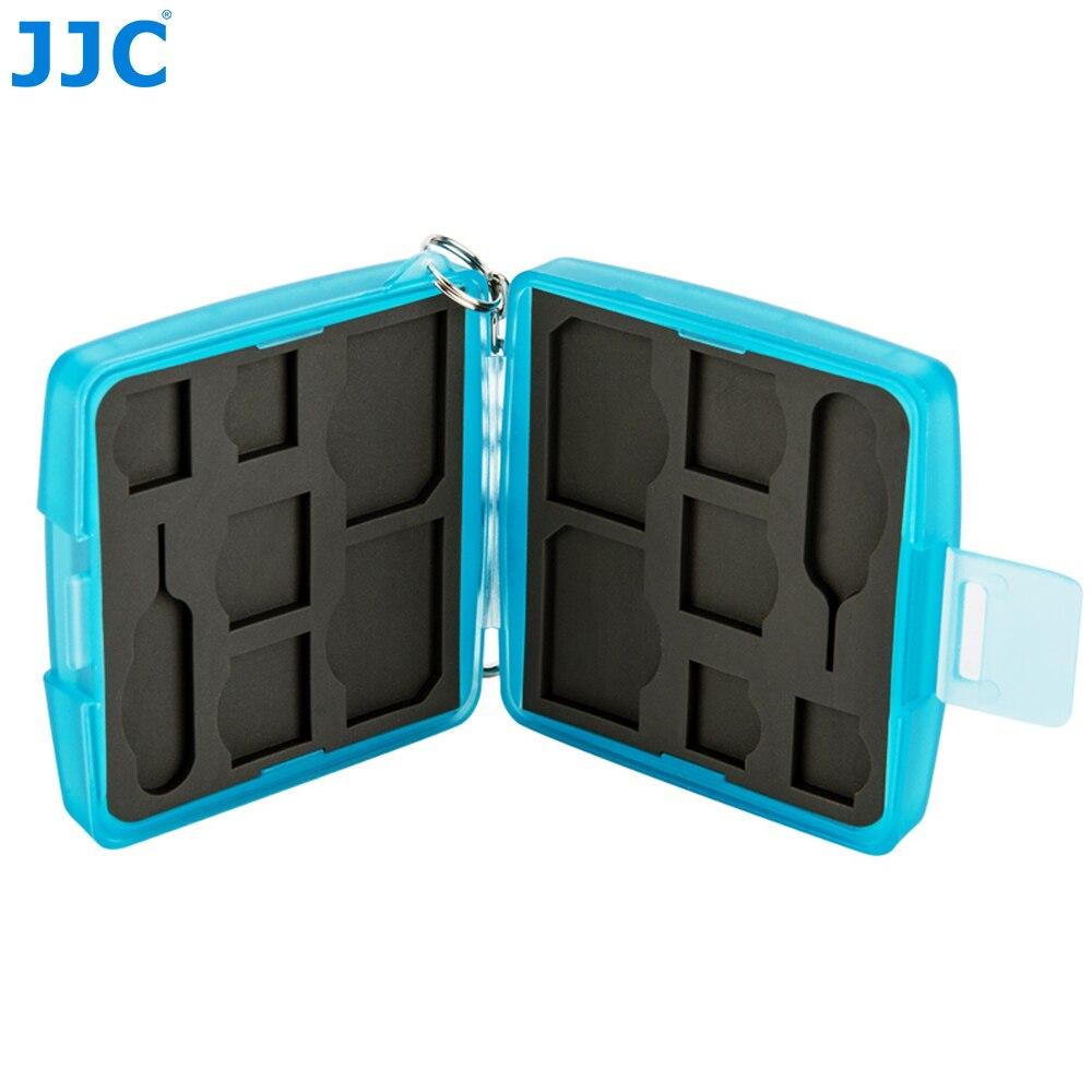 JJC Memory Card Case for 4 SIM + 4 Micro SIM + 4 Nano SIM Cards Water-Resistant Storage Box Hard Holder