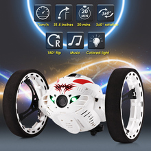 RC Car Bounce Car PEG – 88 2.4G Remote Control Toys Jumping Car With Flexible Wheels Rotation LED Night Lights RC Robot Car Gift