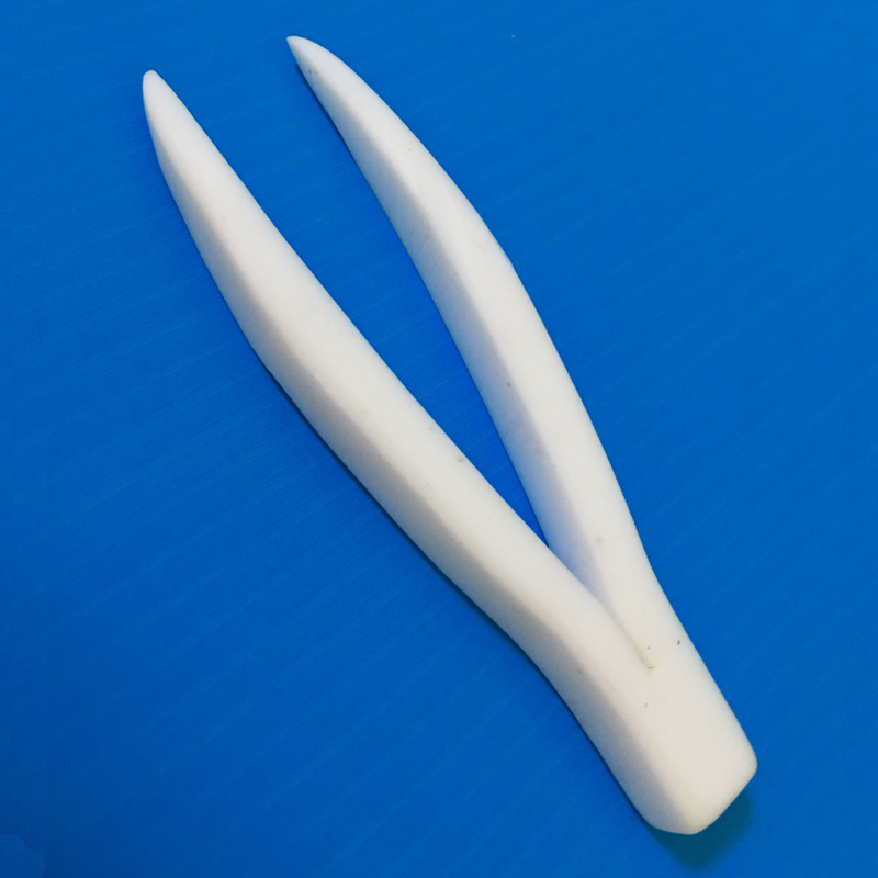 PTFE  Laboratory Tweezers 150mm Clip, Laboratory Clamp, Lab Chemistry Forceps Corrosion and High Temperature Resistance,