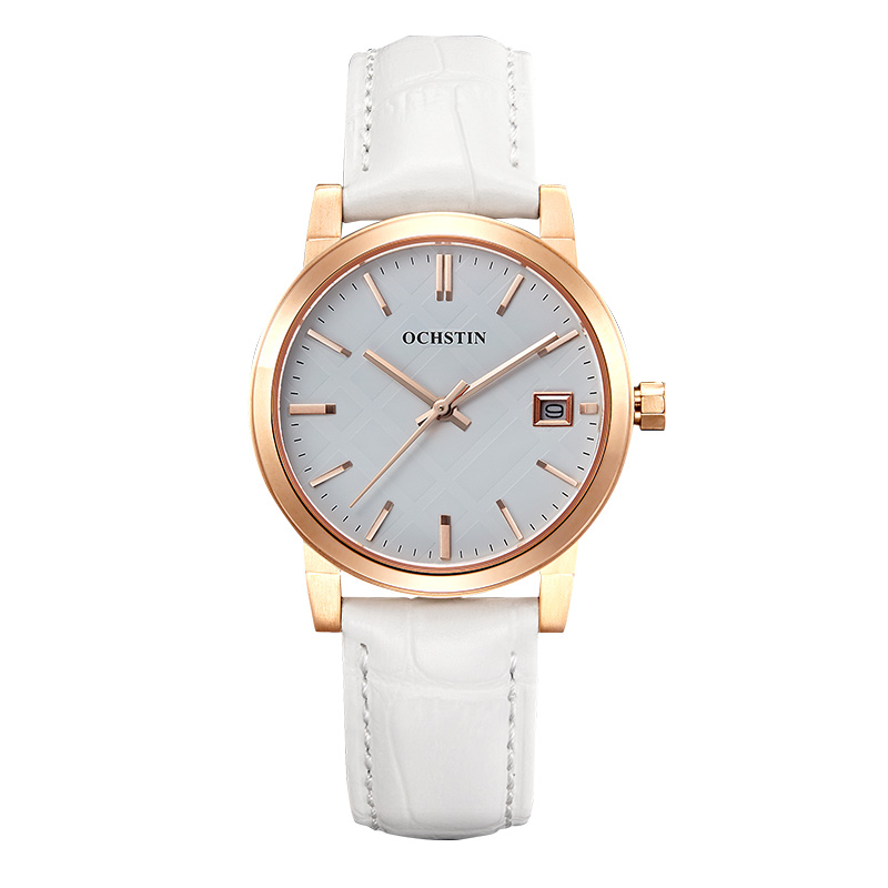 ФОТО OchsTin Gold Fashion Lady Watch Sapphire Crystal Water Resistant Ladies Watch Leather Hand Watch Kol Saati