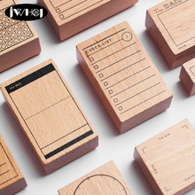 1 pcs Based on series Calendar wood stamp wooden rubber stamps for scrapbooking Handmade card diy stamp Photo Album Craft gifts(China)