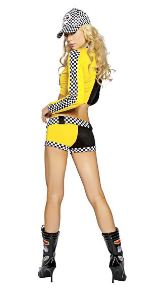 MOONIGHT Race Car Costumes Uniforms Sexy Race Car Driver Halloween Costumes Women 2 piece Crop Top With Shorts Game Cosplay