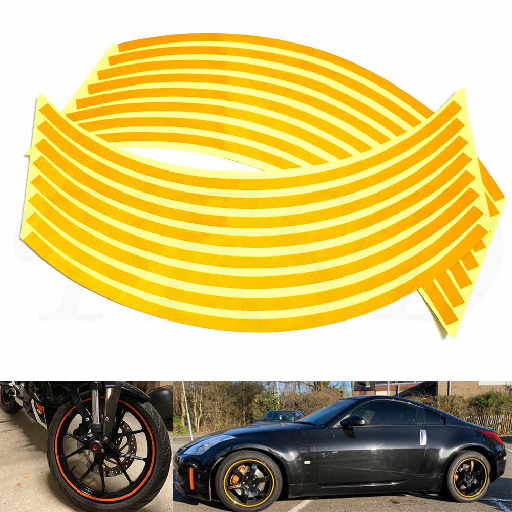 Motorcycle Tire Installation Near Me >> Car Motorcycle Tire Rim Stickers 17 19 Reflective Car Covers Tape