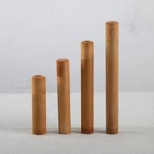 1 шт. экологичный чехол для путешествий ручной работы 21 см бамбуковая трубка для зубной щетки портативная дорожная упаковка Натуральный Бамбуковый тюбик для зубной щетки