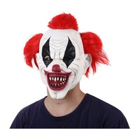 Red Hair Scary Latex Clown Pennywise Costume Party Mask Funny Joker Clown Masks Halloween Horror Wizard Clown Masks Ghost Mask