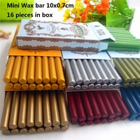 DIY 16pcs High Quality Mini Sealing Wax Stick Retro Seal Stamp Vintage Wax Stick Sellado Sax