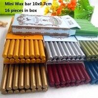 DIY 16pcs High Quality Mini Sealing Wax Stick Retro Seal Stamp Vintage Wax Stick Sellado Sax