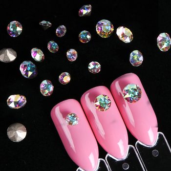 10pcs Charms Glass Nail Rhinestones Crystal Nail Diamonds Mini Jewelry Beads Manicure Nail Stones 3D Nail Art Decorations SA990 Маникюр