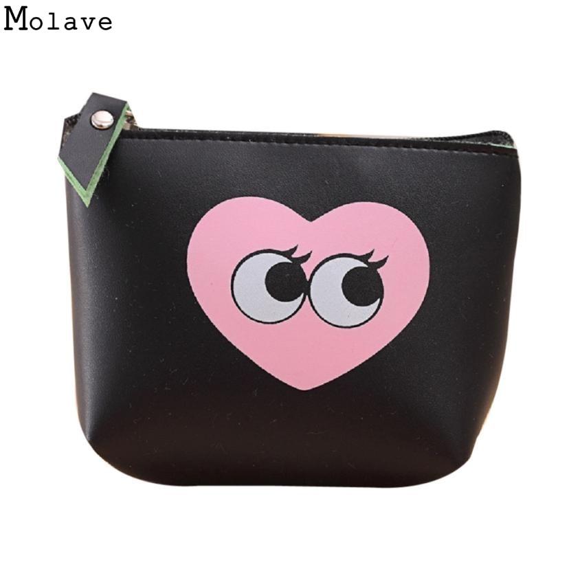 Modern Girls Cute Fashion Waterproof Coin Purse Wallet Bag Change Pouch Key Holder Bolsa Da moeda Bonita Dec6
